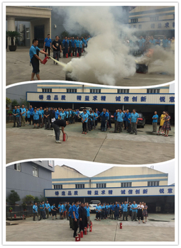 YIRUNDA launched a Fire Drill All Staff Together