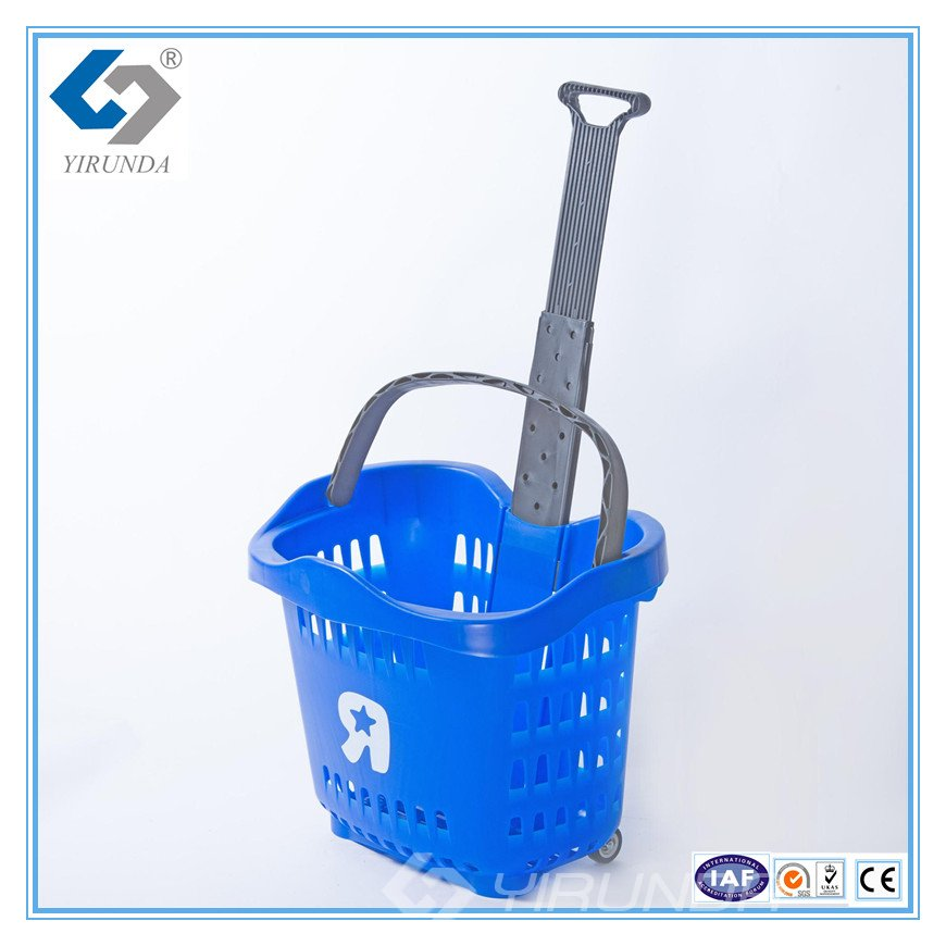 56L Plastic Shopping Basket in Blue ( YRD--13)