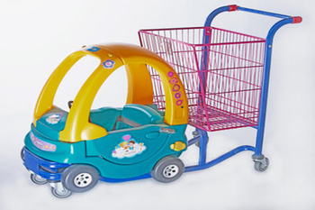 Precautions for shopping cart with baby